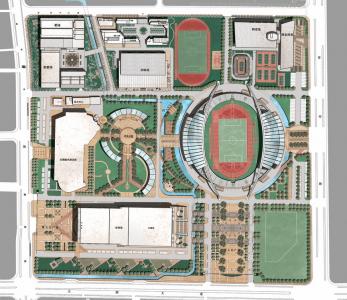 Centre sportif ville Wuxi, Province Jiangsu, <span class=infosup>Chine populaire Projet livré 2008</span>