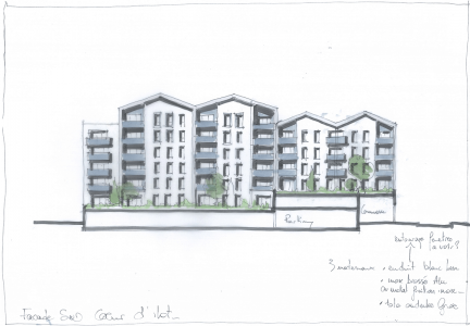Croquis-facade-coeur-ilot-cote-sud